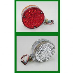 "Pedestal Fender Light Red/ Amber Lens 4 1/4"" Round"