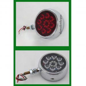 "Pedestal Fender Light Red/ Amber Lens 4 3/4"" Round"