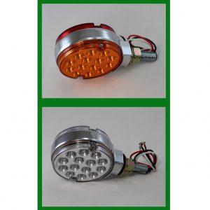 "Pedestal Fender Light Red/ Amber Lens 3"" Round"