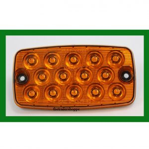 "Low Profile 4-1/2"" x 2-3/8"" 14 Amber LEDs Park Rear Turn Light"