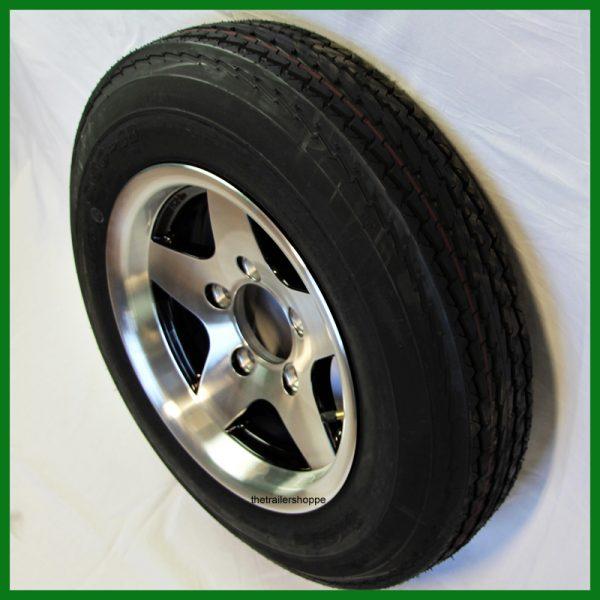 Aluminum Trailer Wheel 4.80-12 Tire LR C 5 bolt
