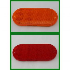 "Stick-on Reflectors Truck RV 4"" X 2"" Oval"