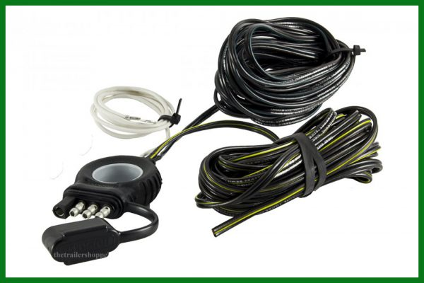 Endurance Easy-Pull Flat 4 Pin Wiring Wire Y-Harness 20 Foot Trailer Lights