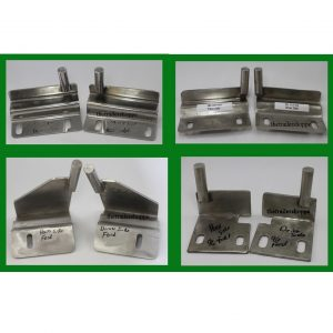 Ford Stainless Steel Hood Brackets