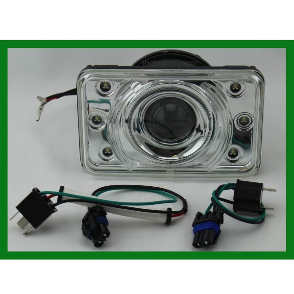 """Crystal Projection Headlight 4""""X6"""" With LED LOW Beam Light"""
