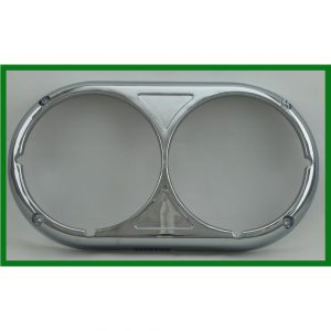 Chrome Plastic Peterbilt 359 Style Dual Headlight Bezel