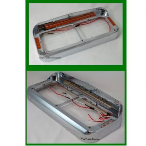 Dual Headlight Bezel With LED Light Bar