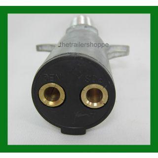 Lift Gate 2 Pin Dual Pole Charging Plug 200 Amp. 4 ga. Wire Velvac