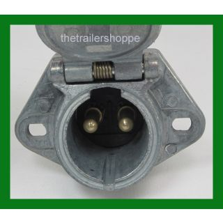 Lift Gate 2 Pin Dual Pole Charging Socket 200 Amp. 4 ga. Wire Velvac