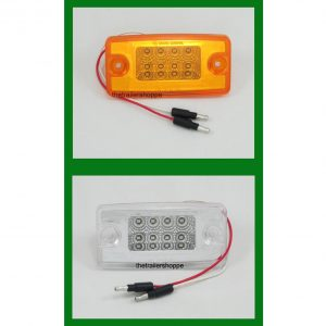 "Ultra Thin Amber LED Light Bar 3-3/4"" x 7/8"""