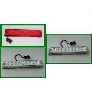 "Low Profile 18 Red 10"" X 2"" Spyder LEDs Stop, Turn, Tail Light"