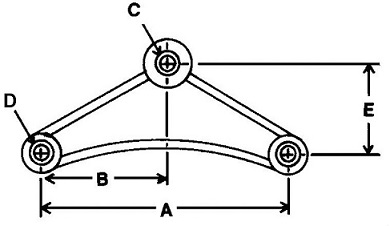 "Curved Equalizer 7-3/4"" Long"