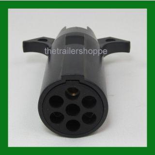 Trailer Light Adapter Plug Converter 7 Round to 4 Flat