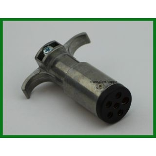 6 Pole Round Pin Male Plug Trailer End