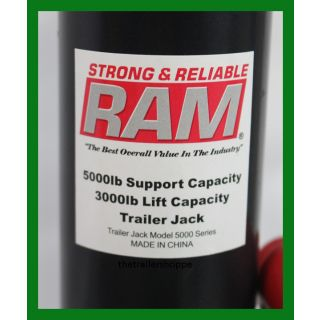 "Ram 2,000 Lbs Trailer tongue Swivel Jack 10"" Lift"
