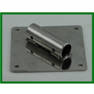 "Stainless Steel Plate 4-1/2"" Square with Pipe"