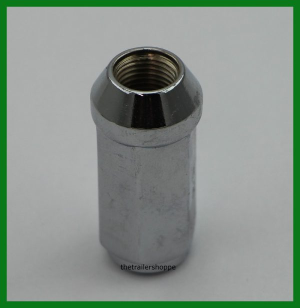 "Wheel Lug Nut 1/2"" Chrome Extra Long"