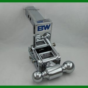 """Tow and Stow Adjustable Ball Mount 5"""" Drop Chrome"""