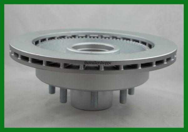 "Kodiak 13"" Rotor Integral with Hub 7-8K 8 Lug Dacromet Coated"
