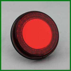 """Mirage"" Stop, Turn, Tail Light 4"" Round 24 LED Red"
