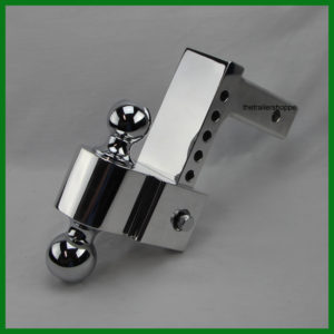 "Flash Pin Style Adjustable Aluminum Ball Mount 4"" Drop"