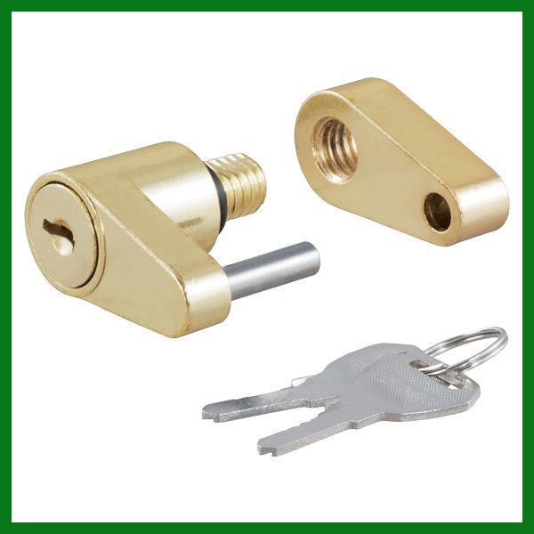 Coupler Padlock Brass Plated Lock