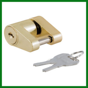 Coupler Padlock Brass Plated Lock