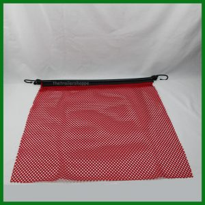 Red Flag with Bungee Strap 18 X 18