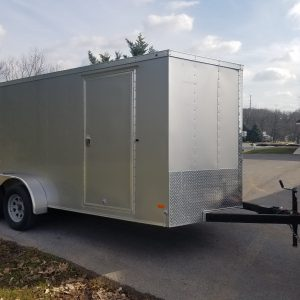 Used 2016 HaulMark 7X16 Enclosed Trailer
