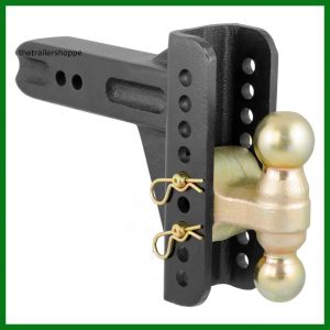 "Adjustable Channel Mount with Dual Ball 2-1/2"" Shank 20,000 lb."
