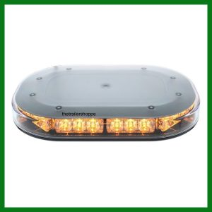 Amber 30 LED Flashing Light Bar Magnet Mount - Low Profile