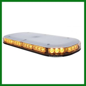 Amber 42 LED Flashing Light Bar Magnet Mount - Low Profile