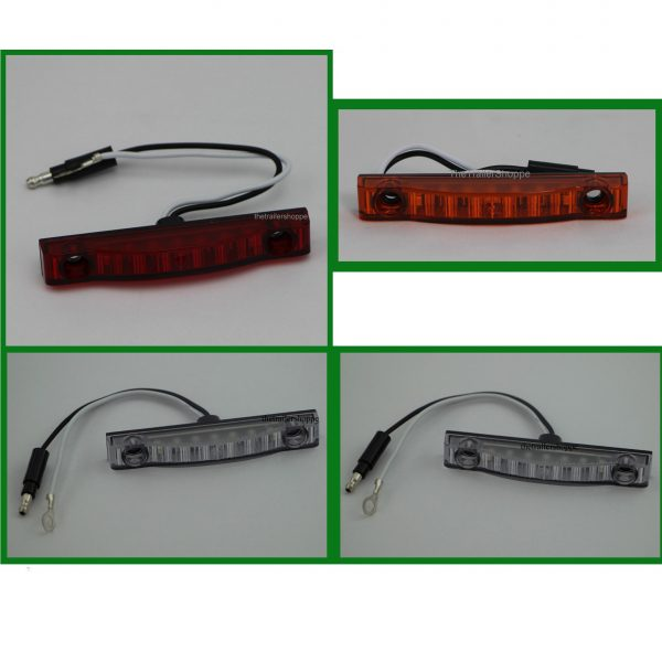 """Thin-Line 3/4"""" x 4"""" 7 LED Low Profile Clearance Light"""