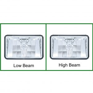 "Rectangular 4"" X 6"" Headlight 1 High Power CREE LED"