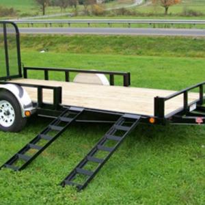 PJ Utility Trailer W/ Side Ramps 7 X 14