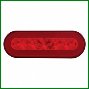 """""""GLO"""" Red Stop, Turn, Tail Light 22 LED 6"""" Oval"""