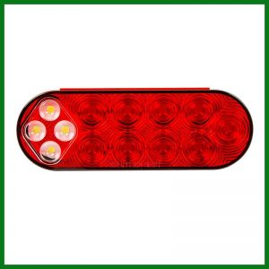 """Combo 6"""" Oval Stop Turn Tail & Back Up 14 LED"""