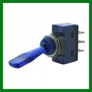 Blue Glow Toggle Switch