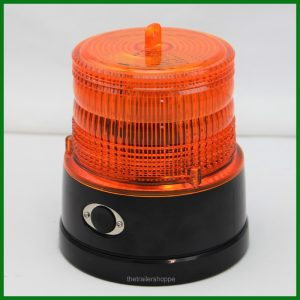 Battery Operated Amber LED Strobe Light Magnetic Mount