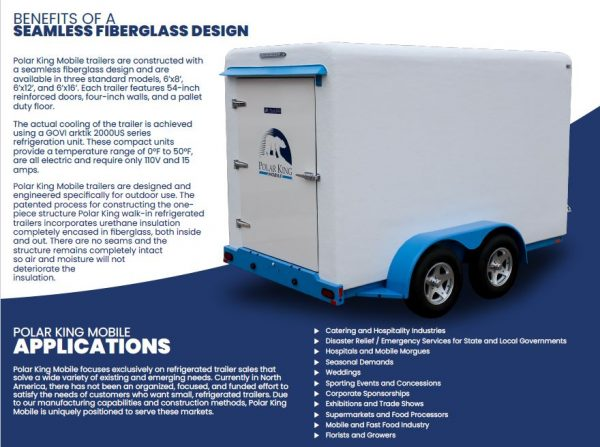6 X 12 Refrigerated Trailer